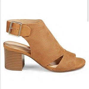 Expression Tan Ophelia Block Heel Sandals